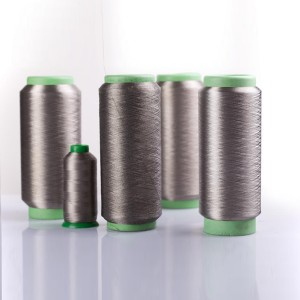 Silver coated polyamide conductive yarn