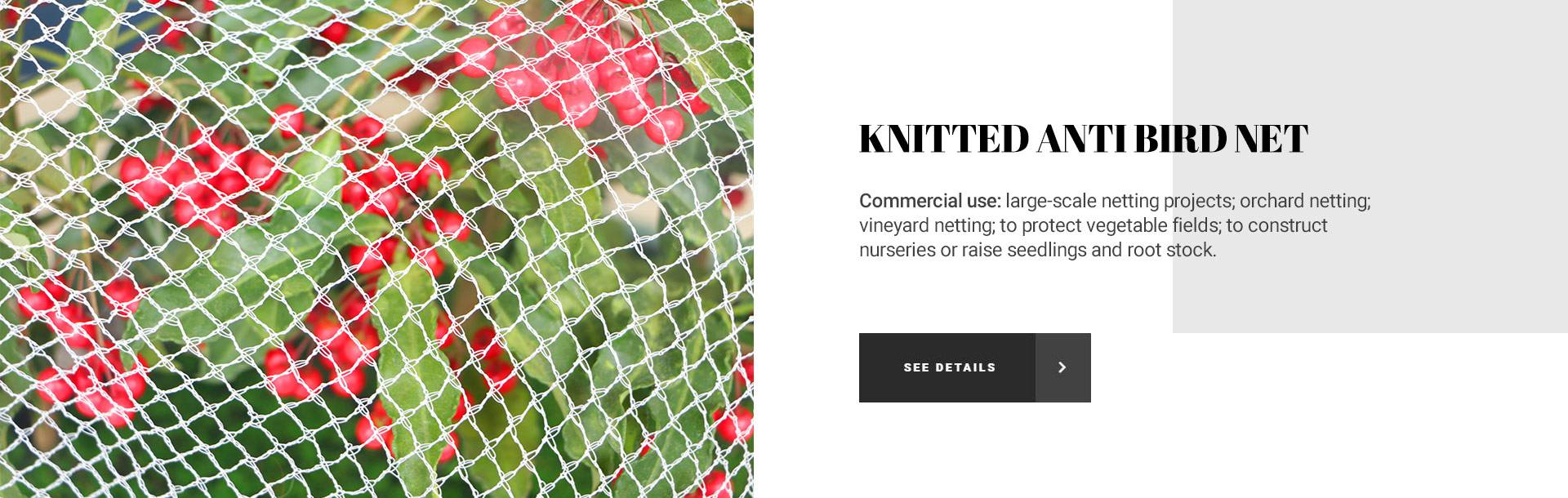 KNITTED ANTI BIRD NET