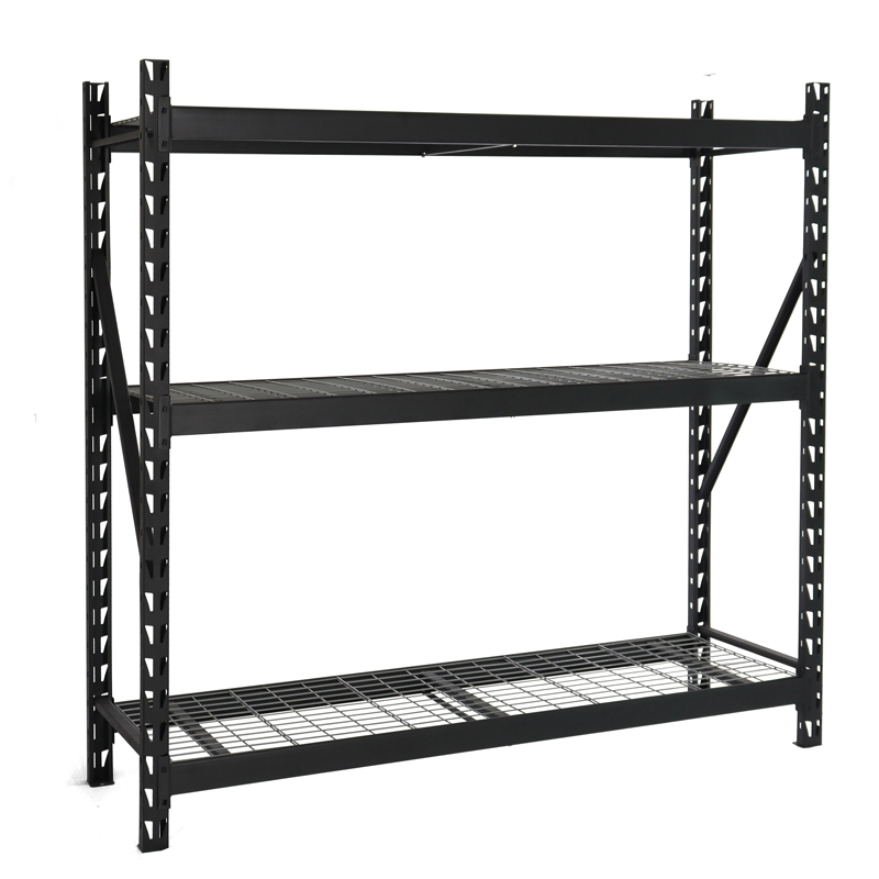 Heavy Duty Steel Wire Welded Storage Rack Black 77″W x 24″D x 72″H Featured Image