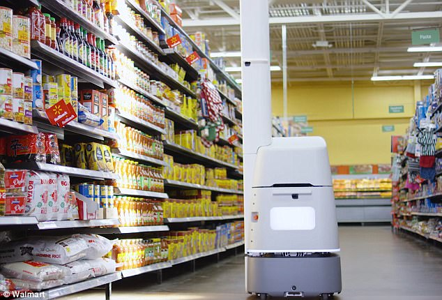 Walmart shelves robots on duty