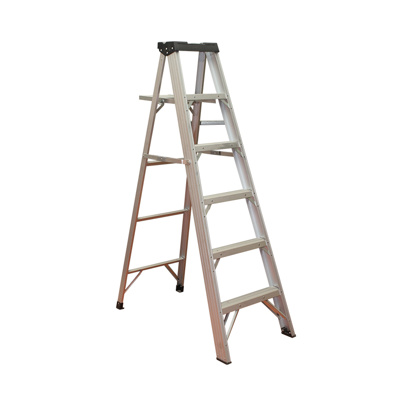 Easy foldable lightweight aluminium step ladder