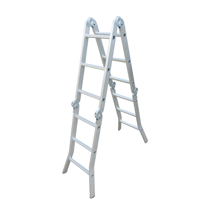 Aluminium Industrial telescopic by step straight ladder stool folding stairs
