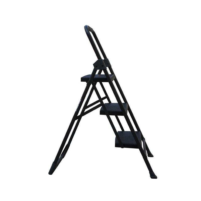 Steel Material Step Ladders Structure three step ladder with handle