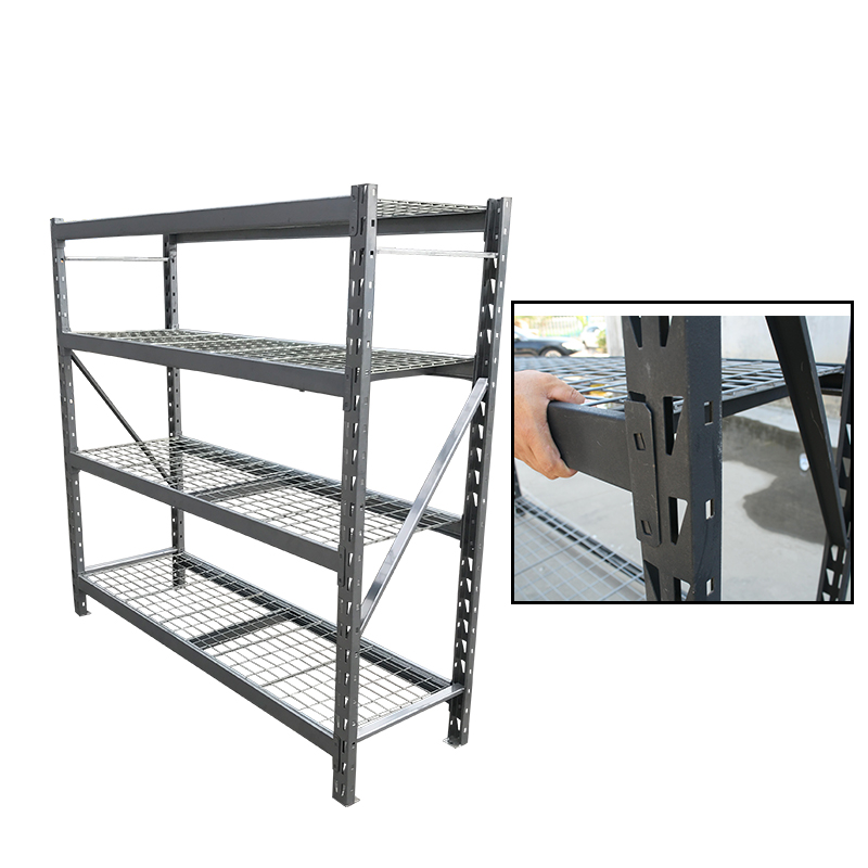 Heavy duty shelving system loading 1200lb 4  tier metal wire shelves rack