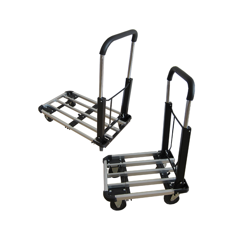 Heavy duty folding platform metal hand truck trolley