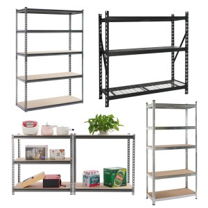 Particle Board EUROPE Mdf Adjustable Boltless Stacking Metal Steel Wire Shelving Storage Rack Unit