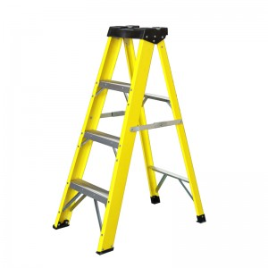 4 ft. Fiberglass Stepladder, 250 lbs. Load Capa...