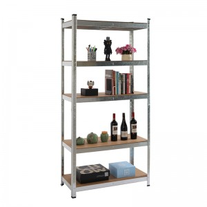 5 Tier Galvanized Steel Shelving Boltless Garage Storage Racking Shelves Unit For Spare Parts Storage