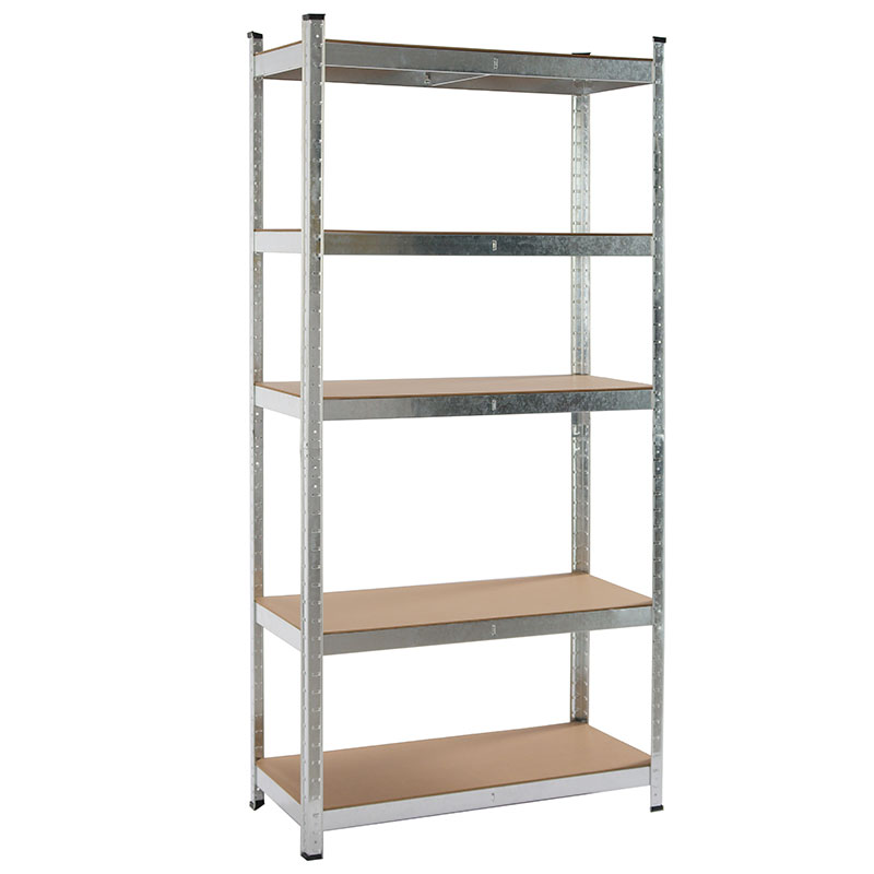 5 Tier Galvanized Steel Shelving Boltless Garage Storage Racking Shelves Unit For Spare Parts Storage Featured Image