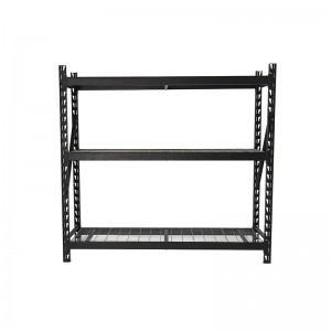 Heavy Duty Steel Wire Welded Storage Rack Black 77″W x 24″D x 72″H