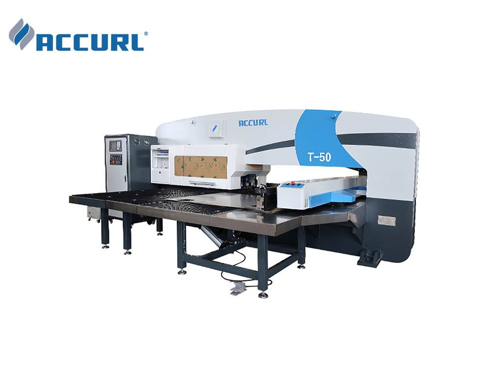 ACCURL CNC Turret Punching Machine MAX-T-50 ton for Sheet Metal CNC Punch Press Manufacturers