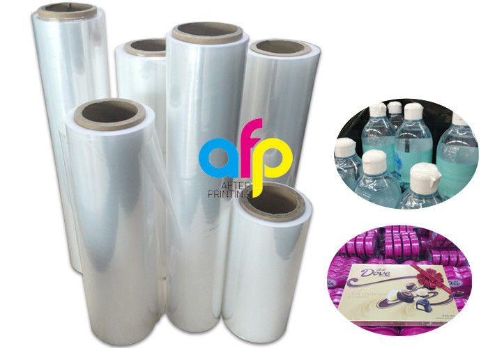 19 Micron Polyolefin Shrink Film For Book Packing Over 60% Shrinkage Ratio
