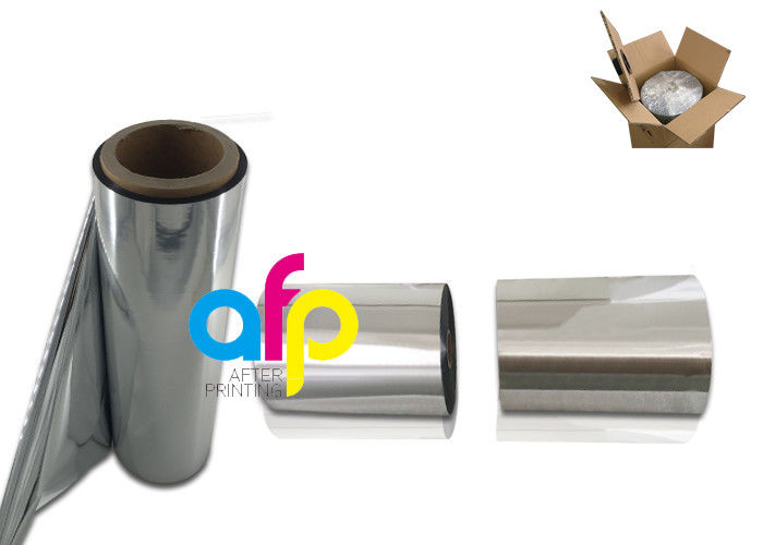 22 Mic PET Metalized Film , Lamination / Printing SGS Approval PET Plastic Film