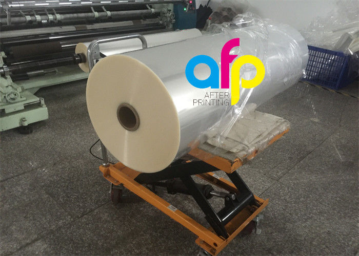 One Side Corona Treatment Glossy Laminating Film / BOPP Cold Laminating Film