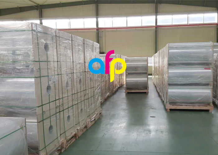 Food Contacted Packaging Stretch Film , 25 Micron BOPET Plastic Packaging Film