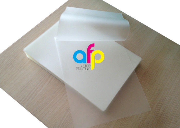Transparent Pouch Laminating Film Sheets For Picture / ID Card Protection