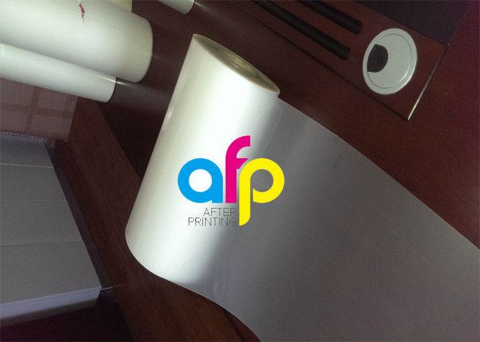 Custom Size Polyester Laminating Film , 18 – 250 Micron Thermal Matte PET Film
