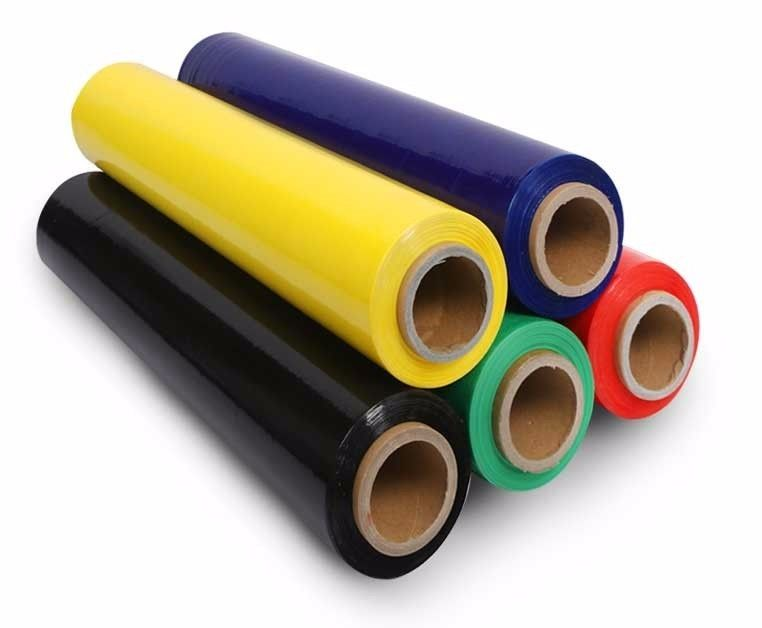 5 '' x 1000 ' x 80 G Colored Stretch Film 350 % Elongation Stretch Wrap