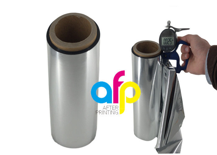 Offset / Gravure Printing Metallic Polyester Film , Soft Matte Lamination Roll
