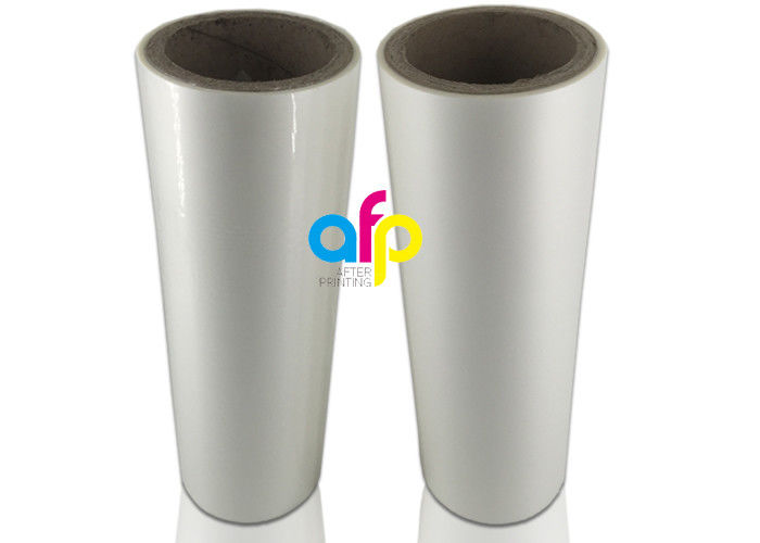18 Mic Laminating Plastic Roll , PET EVA Gloss Laminated Packaging Films
