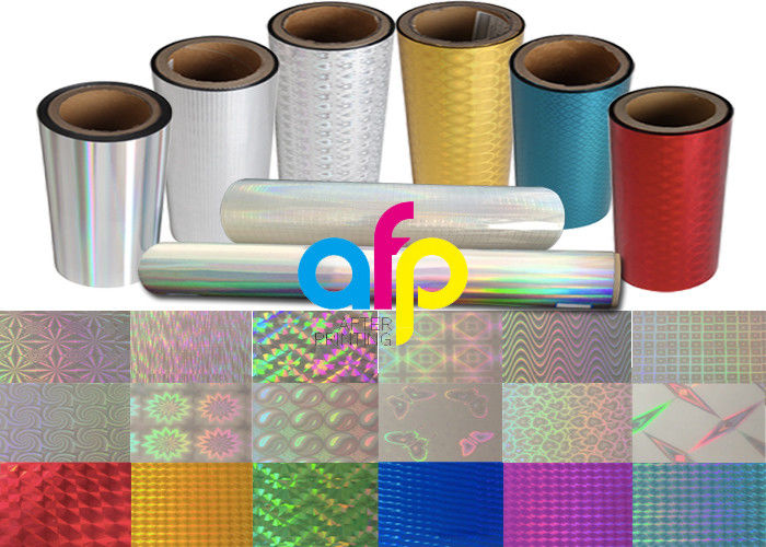 Colorful / Transparent Laser Holographic Film With Patterns 180 – 1880mm Width
