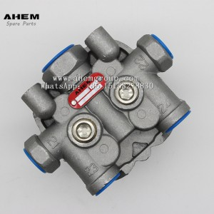Truck trail brake valve four circuit protection valve knorr ae4158 ae4168 ae 4170 ae4428 ae4179 ae 4427 for iveco volvo benz daf