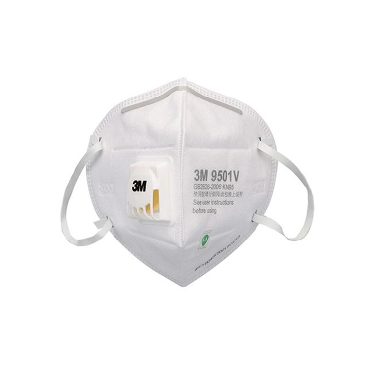 3M KN95 mask with valve breathing safety for face protection from dust, air pollutions particulate respirator