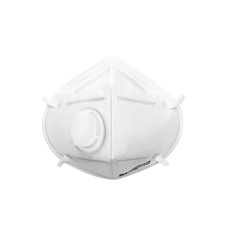 KN95 particulate respirator with valve CE/FDA certificates earloop protection face mask