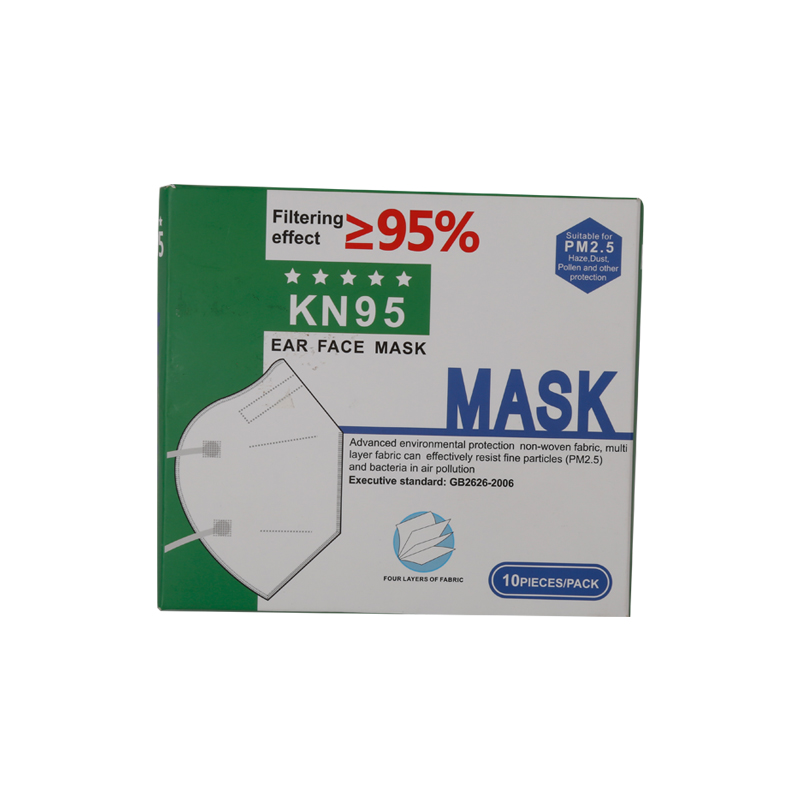 KN95 face mask with CE/FDA 3 ply disposable 10 pack breathing safety – for face protection from dust, pollen, pet dander