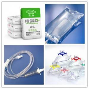Non-toxic stabilizers medical equipment transparent tube injector