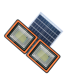 double head pvc housing solar flood light 130 to 400w