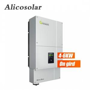 Growatt 3 Phase 5KW Solar Inverter On Grid Grid Tie Solar Power Inverter Transformerlesss