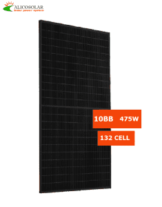 Alicosolar Mono 132 half cells all black solar panels 465W 470w 475w 480w 485w 182mm cell 10BB