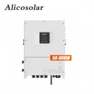 Alicosolar On grid Inverter 50KW 60KW 80KW 100KW Solar Grid Tie Home 380v 400v Three Phase 50Hz