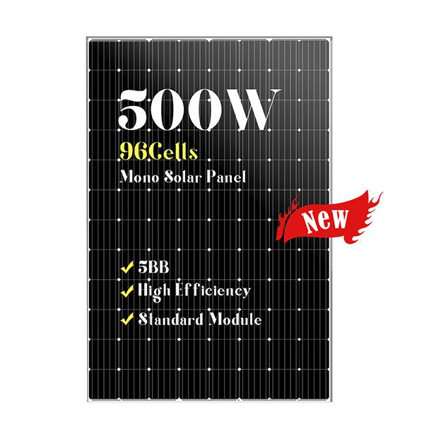 96 cells large size mono black solar panels 500w Featured Image