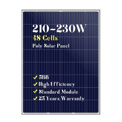 48 cells poly solar panels 200w210w220w230w