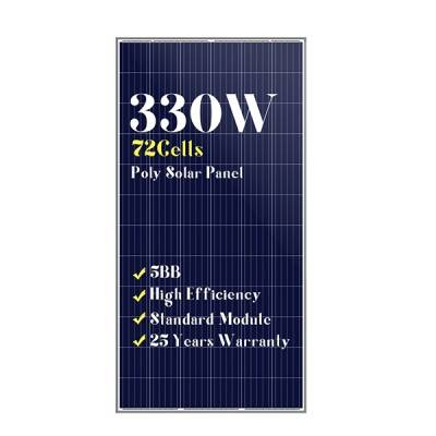 72 cells standard size mono black solar panels 330w