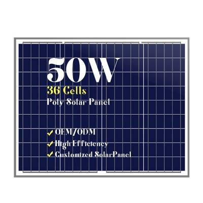 Small solar panels customized cells poly 50w
