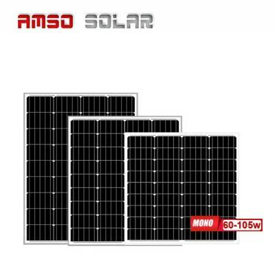Small size customized mono solar panels 60w75w90w105w