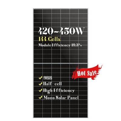 9BB 144 half cells mono solar panels 420w430w440w450w