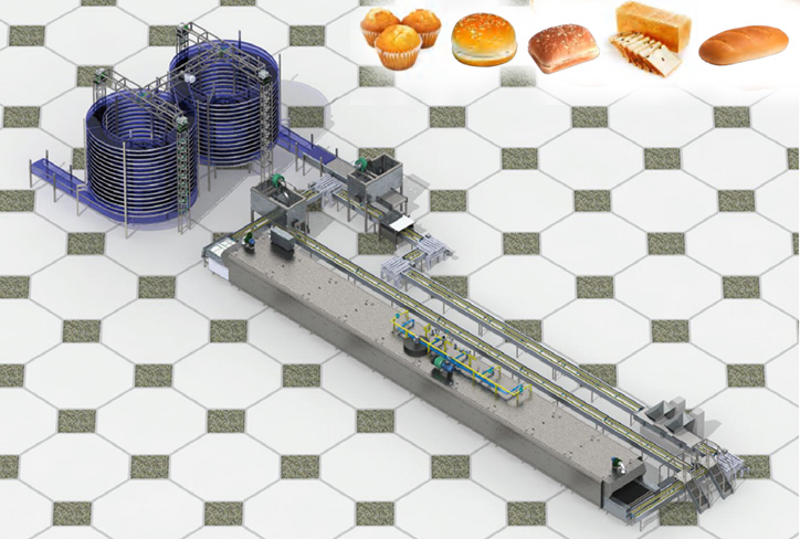 bread making machine and production line