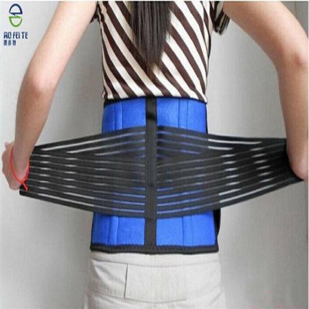 Medical back support straightening orthopedic waist belt