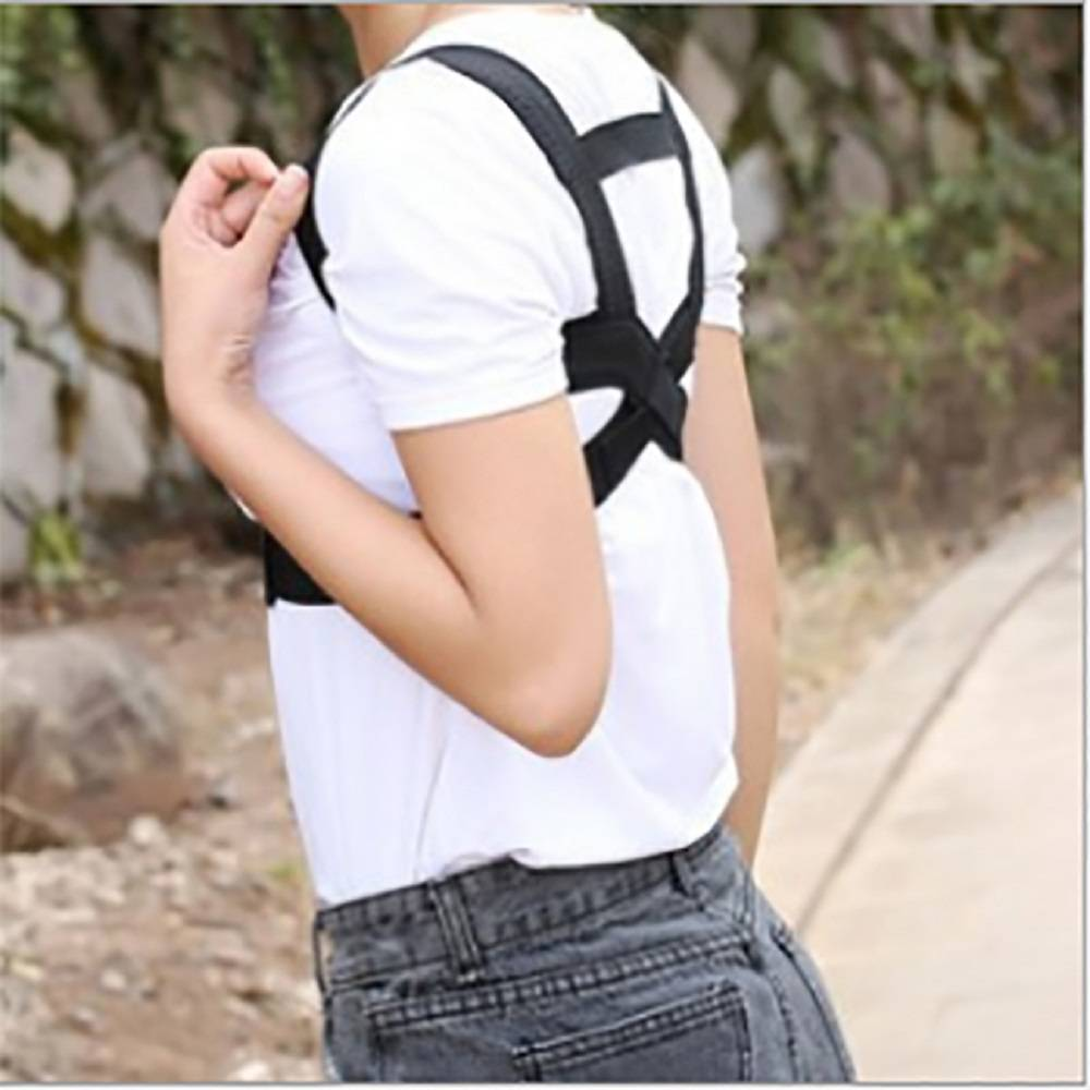 Posture corrective shoulder lumbar lower back brace