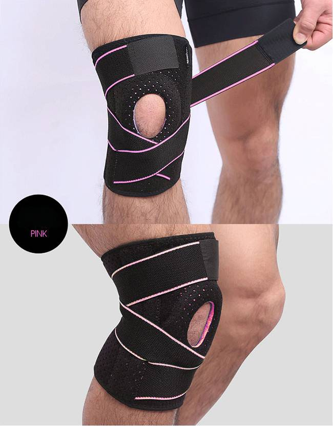 Adjustable breathable pressurized kneecap