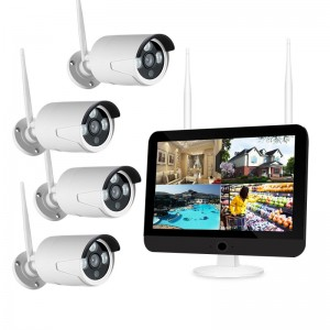 4CH 720P/1080P HD Wifi NVR Kits with Screen