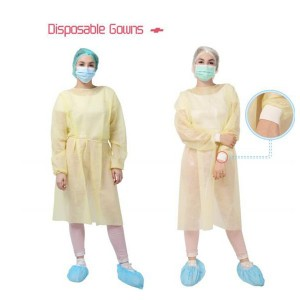 Disposable Isolation Clothes in safety clothing Waterproof Isolation Cover Gown Clothes