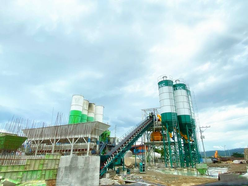 HZS 180 concrete batching plant in Philippines