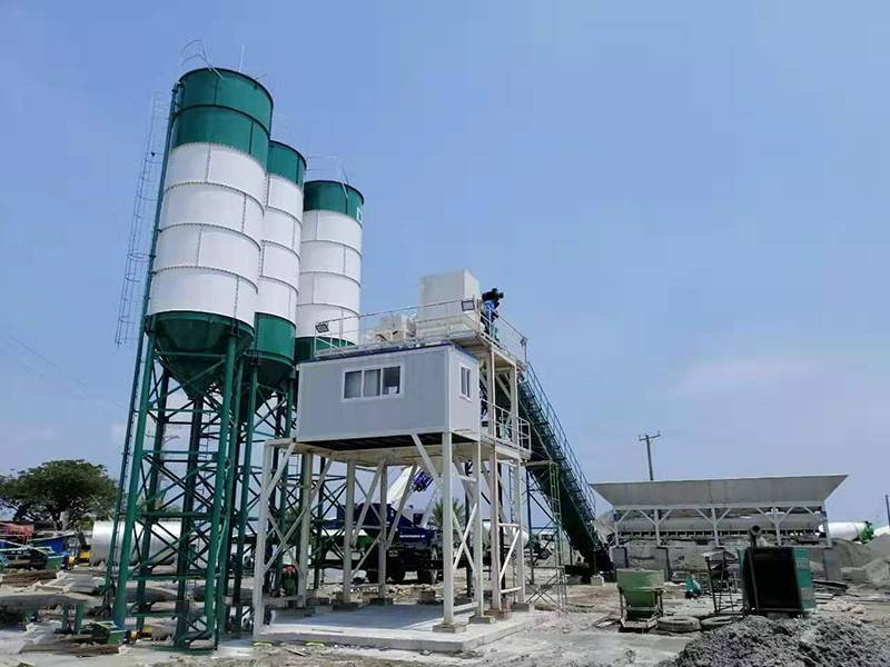 HZS120 concrete batching plant in Philippines