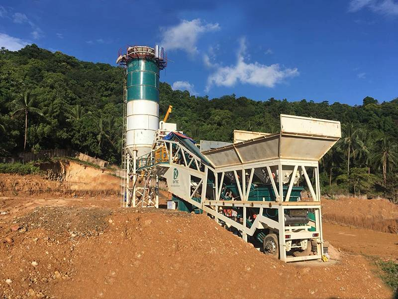 MHZS60 concrete batching plant in Philippines