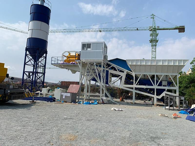 MHZS60 Concrete Barching plant in Cambodia